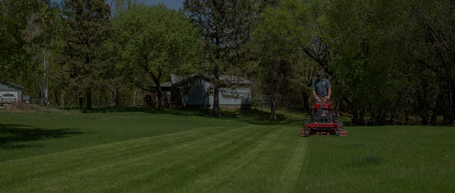 Mowing Residential Home in Detroit Lakes, MN.