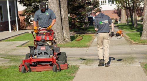 Professional lawn mowing and maintenance services by an industry leader, Miller Yard Care & Construction.